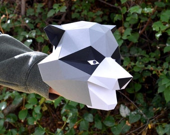 Raccoon Hand Puppet Pattern with Wiggling Ears!   Animal Puppet   Kids Craft Project