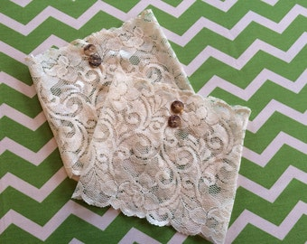 Ivory Lace Boot Cuffs