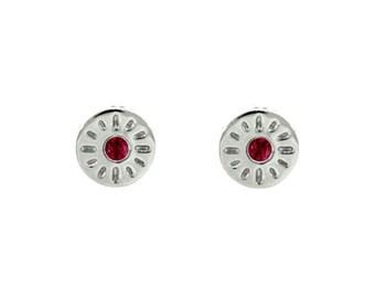 18k white gold ruby earrings timeless