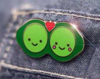 Two Peas in a Pod Hard Enamel Pin