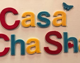 """Ceramic Tile Letters Upper & Lower Case and Shapes about 3 1/4"""" in size"""