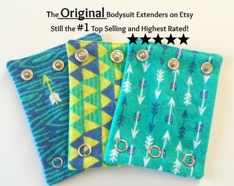 BODYSUIT  EXTENDERS.  Add a size to your baby onesie / bodysuits. Also great for cloth diaper wearers.
