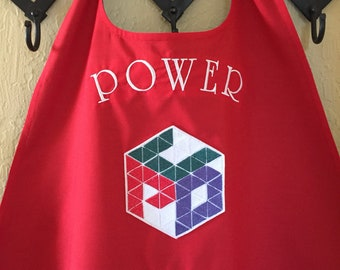 Adult Superhero Cape with Custom Logo and Monograming above and/or Below Shield logo