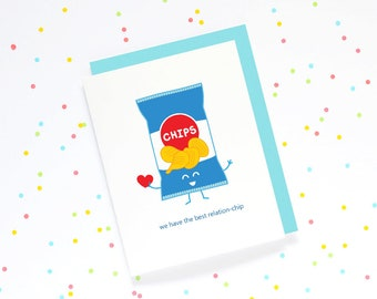 We Have The Best Relation-chip - card cute cartoon love relationship potato chip bag