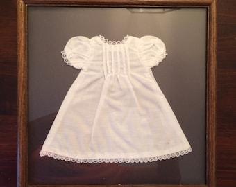 Framed Vintage Doll Dress