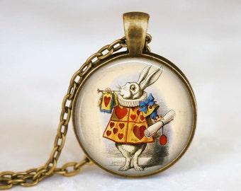 The White Rabbit • Alice in Wonderland Necklace • Alice In Wonderland Jewelry • Fairy Tale Jewelry • Alice Necklace • Down The Rabbit Hole