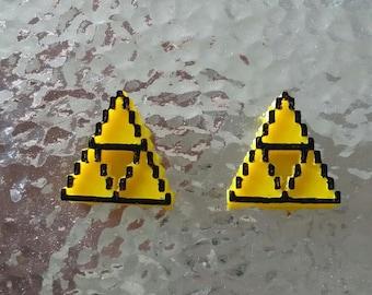 Yellow Triforce Studs  (Nintendo, Zelda)