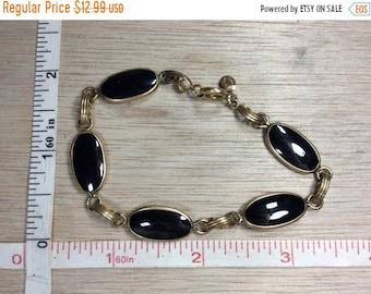 10%OFF3DAYSALE Vintage Bal-Ron 1/20th 12K Gold Filled 7.8g Bracelet Black Stone Used