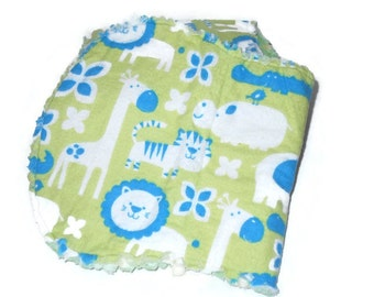 Neutral gender baby burp cloths baby animals set of 4 burp cloths, ready to ship!!