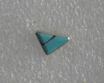 9x7mm Triangle Shape Single  Southwest Turquoise  Sterling  Post Earring