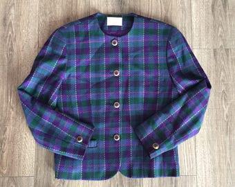Vintage Pendleton, vintage Pendleton suiting, pendleton jacket, womens Pendleton, 80s pendleton