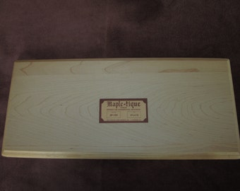 """Maple-tique wood plaque, 6 3/4""""x15"""", routed edge, maple,unfinished, folk art, tole painting"""