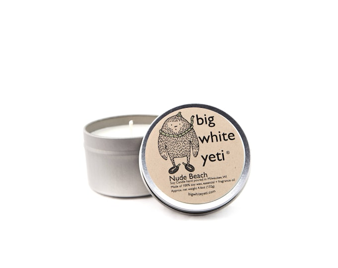 Nude Beach Soy Candle- 6oz Tin