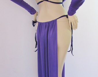 Gorean Slave Role Play Costume-Purple_ All year-For your Kajira fingerless gloves- ZanzaDesigns