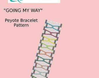 Going My Way Peyote Bracelet Pattern