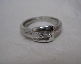 Belt Silver Ring Vintage Avon Adjustable