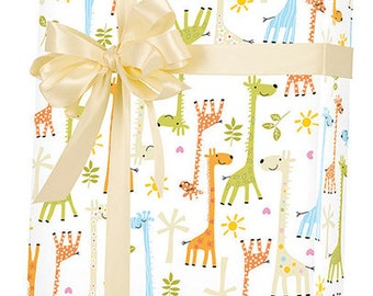 Giraffe Baby Shower Gift Wrap Wrapping Paper 15ft Roll
