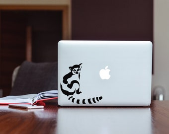 Ringtail Lemur Chilling for Macbook - White Laptop  Made from High Quality Matte Vinyl