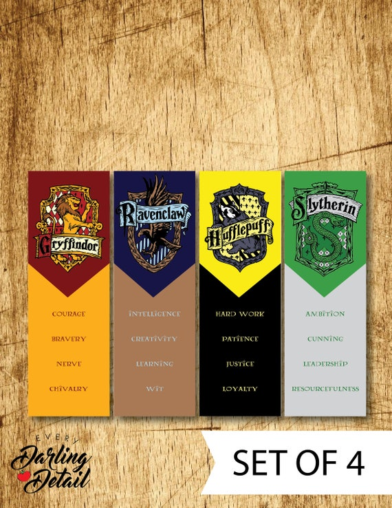 Clever image within harry potter printable bookmarks