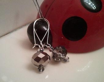 Handmade Earrings - Beaded Earrings - Crystal Earrings -  Beaded Crystal Earrings - Beaded Dangle Earrings - Dangle Crystal Earrings