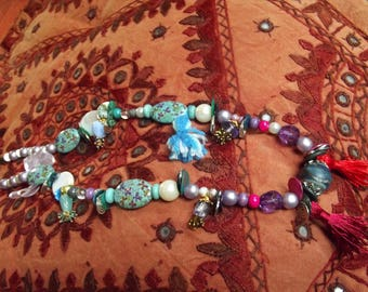 Necklace beads Bohemian mid-length (n0 14)