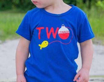 Second birthday fishing shirt, Fishing birthday shirt, second birthday fishing, 2nd birthday fishing theme, boy second birthday shirt, boy 2