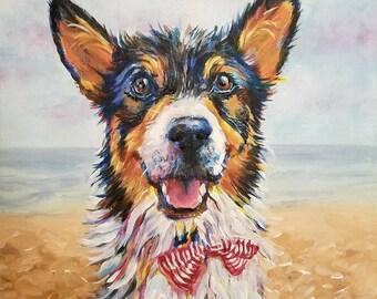 Un-stretched Custom Canvas Painted Pet Portrait
