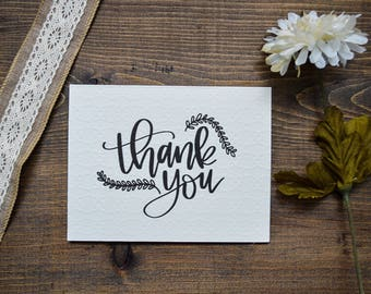 Thank you cards // Pack of 4 cards