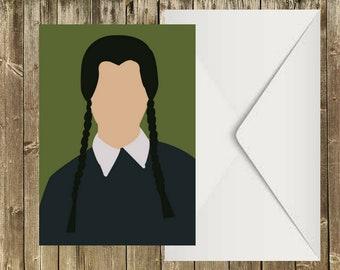 Wednesday - Addams Family - Postcard