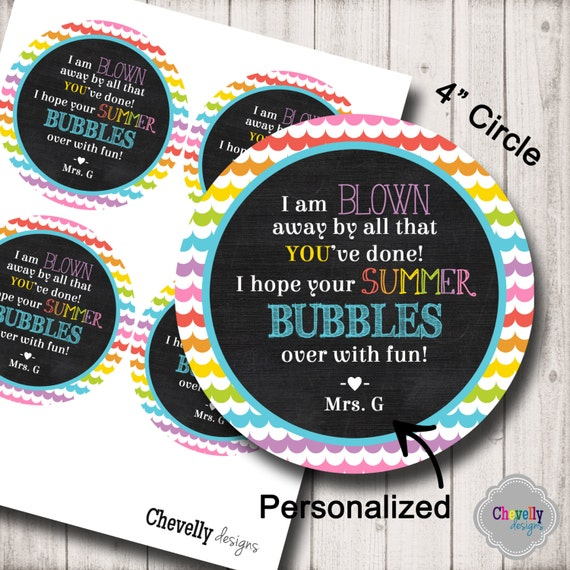 End of School Bubble Gift Tag Printable HT-EOY002