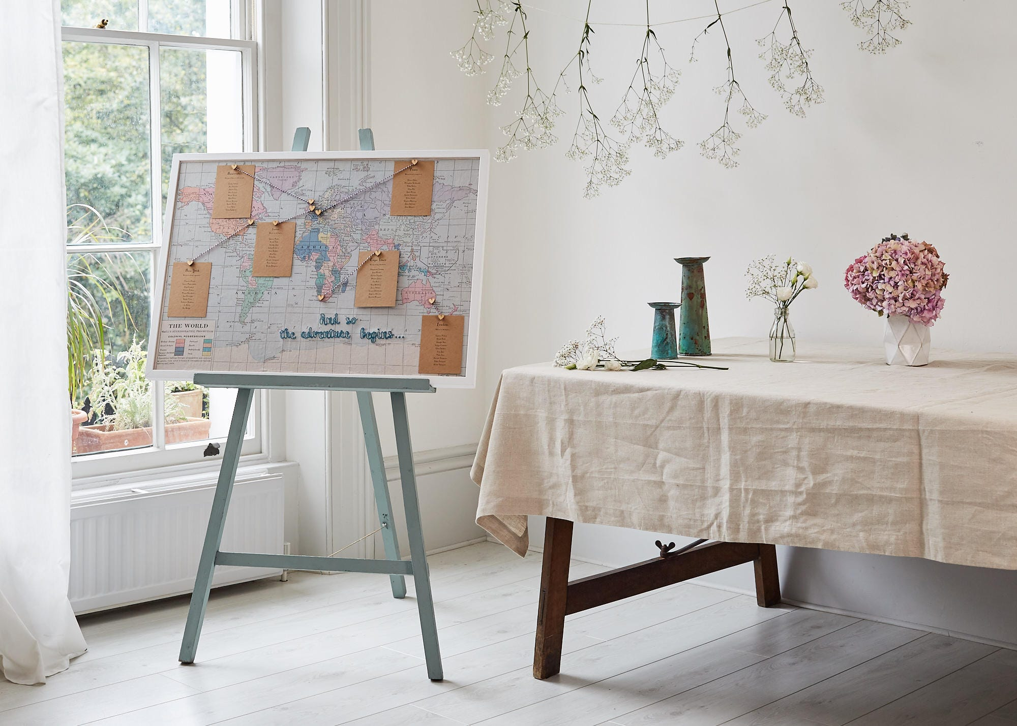 Beautiful world map table plan vintage wedding table plan zoom publicscrutiny Image collections