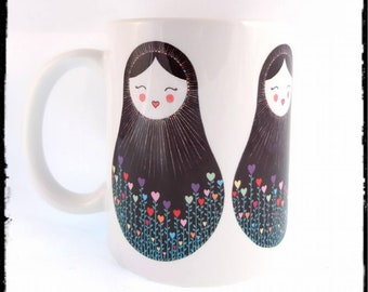 Four Folk Dollies- ceramic mug ***PRE ORDER ITEM***