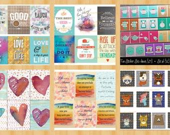 Huge Sticker Bundle | planner stickers | MIX & MATCH 40 Stickers | Midori Sticker | Erin Condren Stickers |FiloFax| IWP Planner Sticker