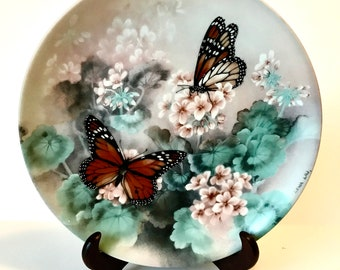 Collectors Plate, W.L. George, Gossamer, Wings Collector Plate, Monarch Butterflies
