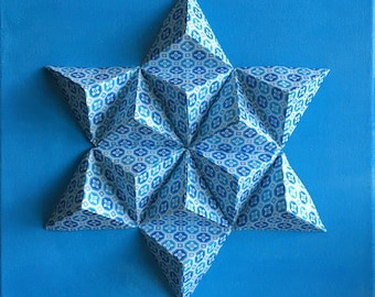 Geometric Paper Origami Wall Canvas