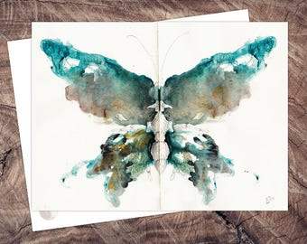Moth Postcard Tube Chess, illustration a6, print on recycled paper, eco, climate neutral