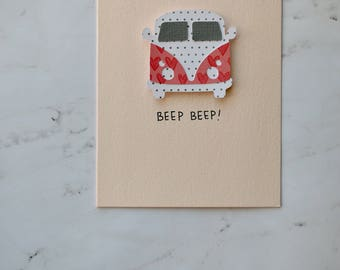 BEEP BEEP Volkswagen Greeting Card