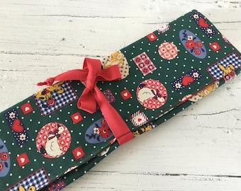 Knitting Needle Case, Needle Holder, Knitting Bag,Knitting Storage,Needle Organizer, Needle Travel Case, Crochet Hook Case.