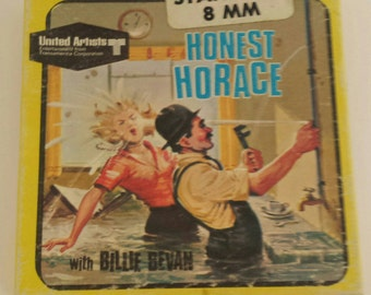 """Vintage 8mm Movie Box """"Honest Horace"""" Billy Bevan UA Films #5538 1920s/60s Kitsch Retro Litho Graphics Wall Decor Display Collectible empty"""