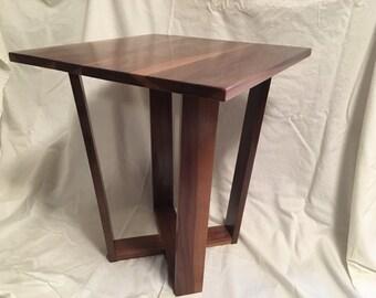 Modern Walnut End Table