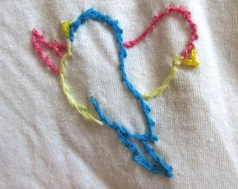 Bird Embroidered Shirt