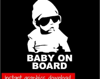 Baby on Board Auto-Aufkleber-SVG-Datei - sofort-Download