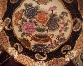 Andrea By Sadek Embossed Gold Ornate Decorative Plate