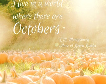 Pumpkins Orange Autumn Fall Colors October Whimsical Quote Fall Autumn Anne  Of Green Gables Quote October