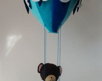 """Little bear and his balloon"" themed decor customizable"