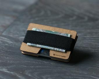 Slim wooden wallet, credit card holder, men's and women's wallet, wood minimalist wallet, slim wallet, modern design wallet, N wallet