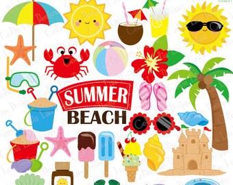 Summer clipart, Beach clip art