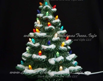 Winter Wonderland Ceramic Christmas Tree w/ Music Box 19 in