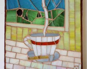 Coffee Cup Kitchen Mosaic