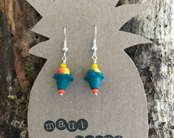Shave ice earrings